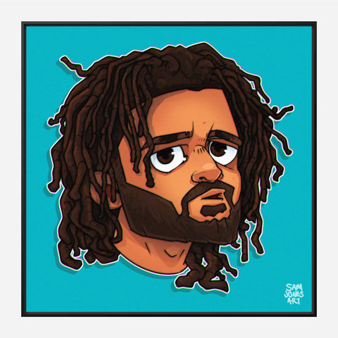 J Cole Portrait