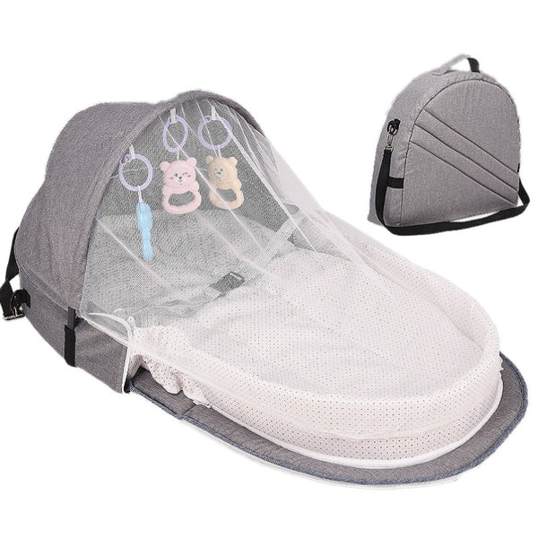 Portable Infant Sleeper - Travel Bed & Bassinet - Canopy and Bug Net Included
