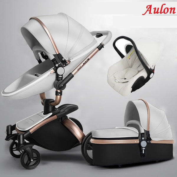 Luxury Baby Stroller 3 in 1