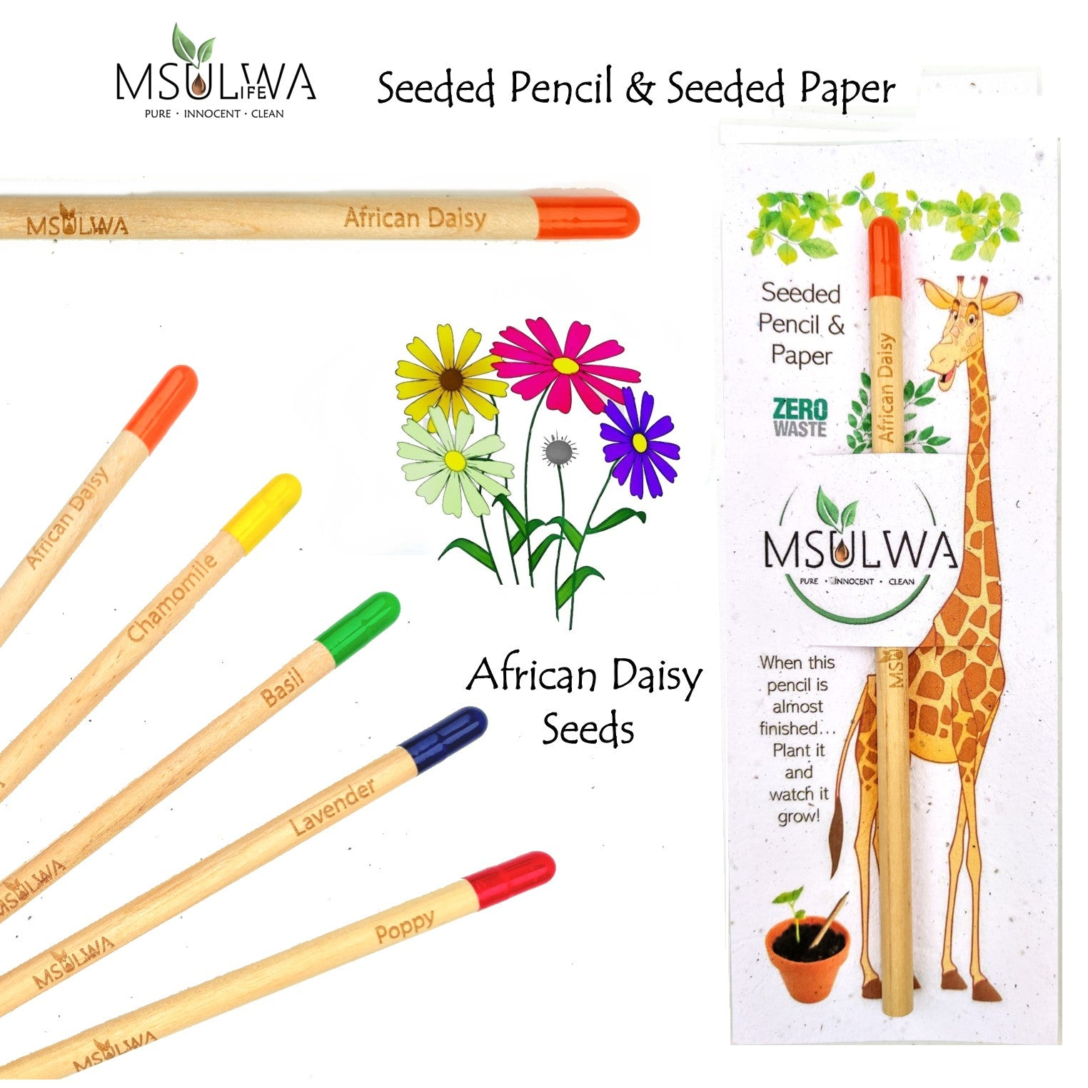 Msulwa Life Seeded Pencil & Paper
