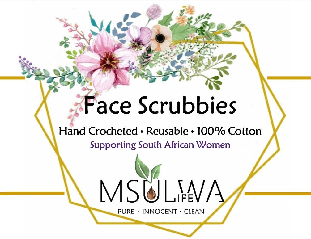 Msulwa Life Face Scrubbies Floral spring
