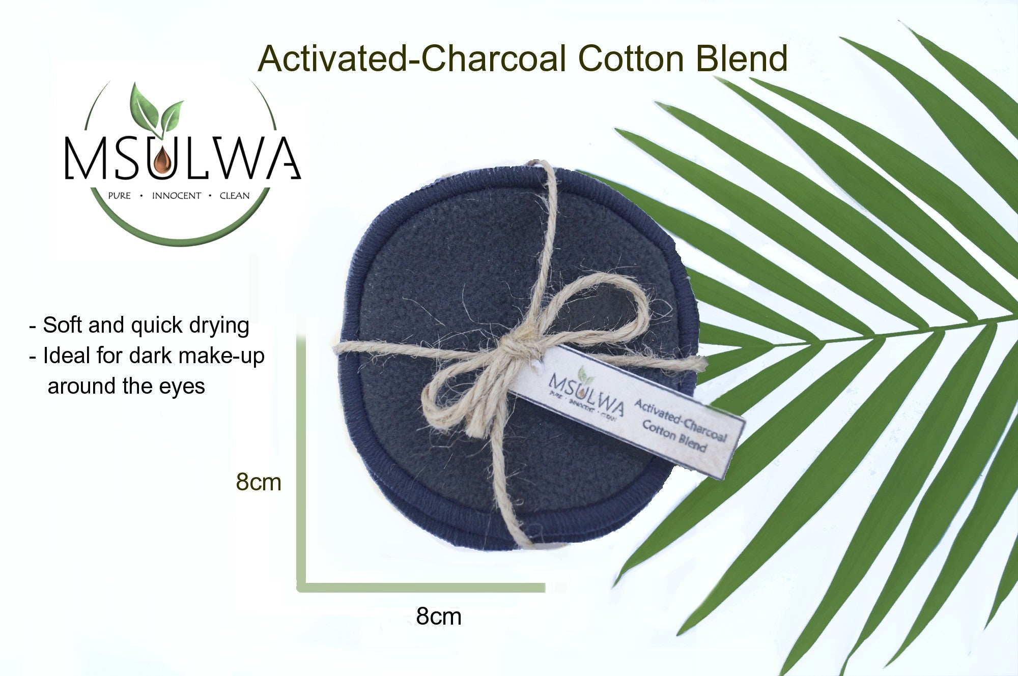 Msulwa Life, activated-charcoal, reusable facial rounds, sustainable, natural, organic,