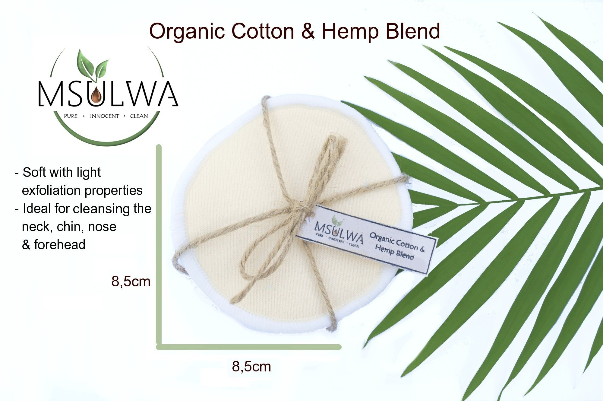 Msulwa Life, eco-friendly, reusable facial rounds, organic cotton pads, sustainable, zero waste, plastic free