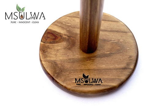 Msulwa Life Wooden kitchen roll Holder