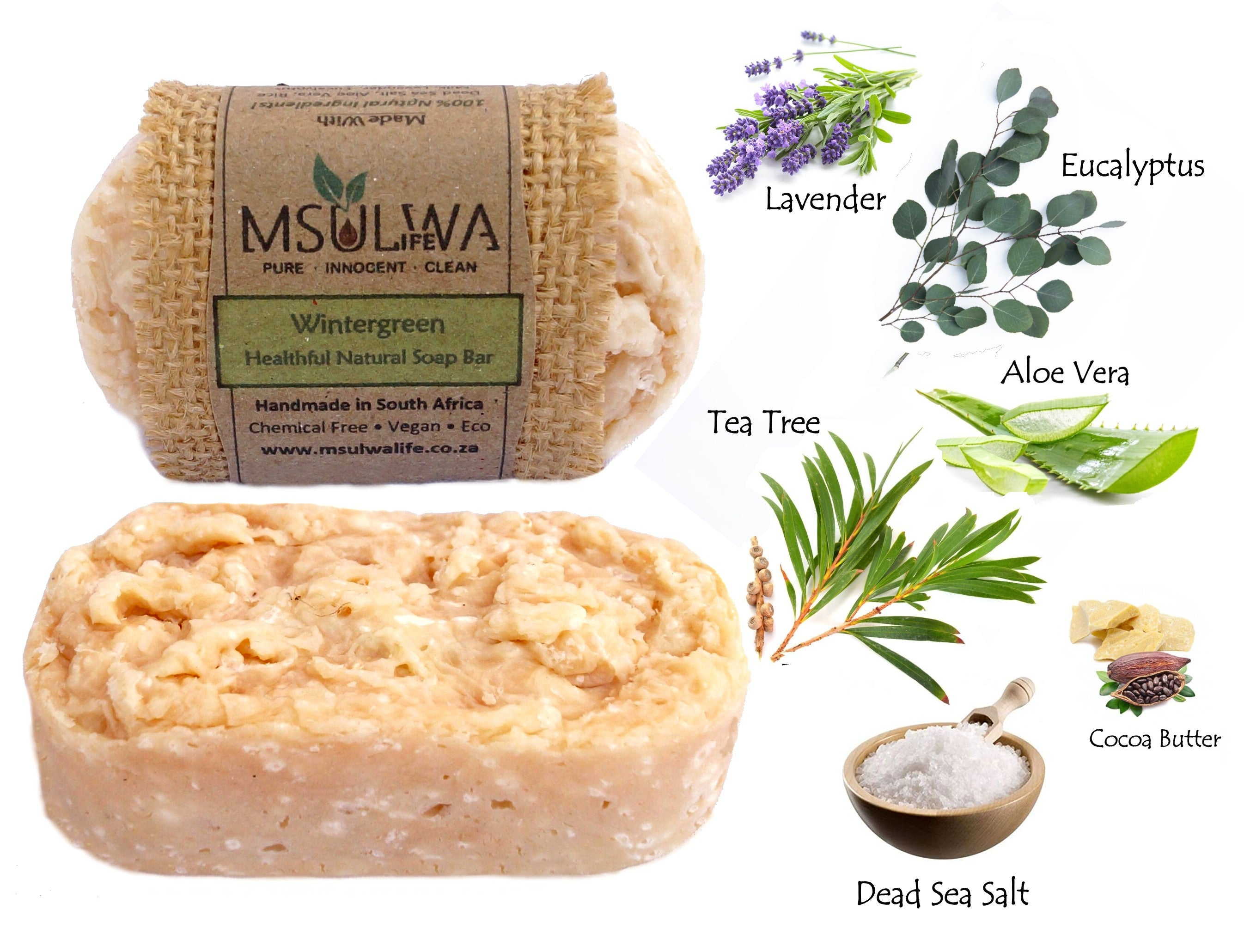 Msulwa Life Wintergreen natural soap