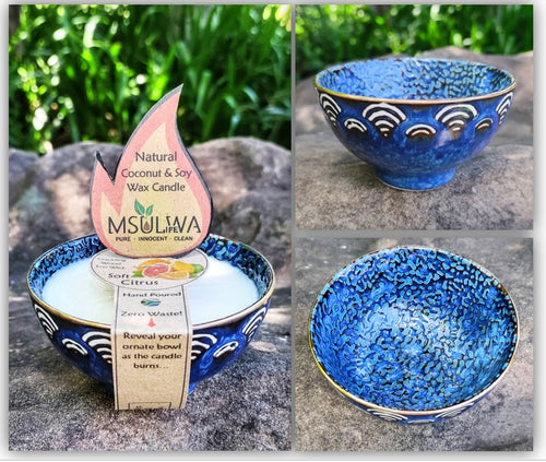NEW! Natural Coconut & Soy Wax Candle - Msulwa Life
