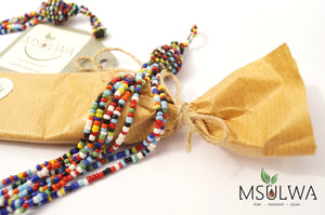 Msulwa African Necklace - Msulwa Onine Store. Pure, Innocent, Clean. Products that are Eco-friendly, organic, sustainable, healthy, natural, vegan, biodgradable, zero waste, eco packaging. South Africa & Worldwide