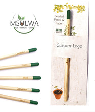 Load image into Gallery viewer, Seeded Pencil with Seed Paper - Msulwa Onine Store. Pure, Innocent, Clean. Products that are Eco-friendly, organic, sustainable, healthy, natural, vegan, biodgradable, zero waste, eco packaging. South Africa & Worldwide