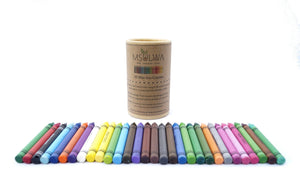30 Wax Eco-Crayons - Msulwa Onine Store. Pure, Innocent, Clean. Products that are Eco-friendly, organic, sustainable, healthy, natural, vegan, biodgradable, zero waste, eco packaging. South Africa & Worldwide
