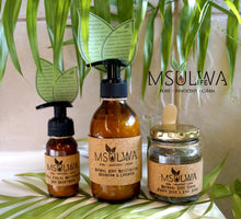 Load image into Gallery viewer, Natural Body Moisturizer - Geranium & Lavender - Msulwa Onine Store. Pure, Innocent, Clean. Products that are Eco-friendly, organic, sustainable, healthy, natural, vegan, biodgradable, zero waste, eco packaging. South Africa & Worldwide
