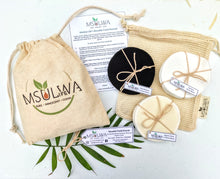 Load image into Gallery viewer, Msulwa Life's Reusable Facial Rounds - Msulwa Onine Store. Pure, Innocent, Clean. Products that are Eco-friendly, organic, sustainable, healthy, natural, vegan, biodgradable, zero waste, eco packaging. South Africa & Worldwide