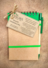 Load image into Gallery viewer, Recycled Paper Notepad & Pen (A5) - Msulwa Onine Store. Pure, Innocent, Clean. Products that are Eco-friendly, organic, sustainable, healthy, natural, vegan, biodgradable, zero waste, eco packaging. South Africa & Worldwide