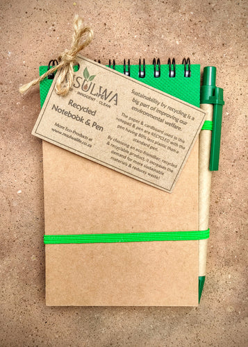 Recycled Paper Notepad & Pen (A6) - Msulwa Life