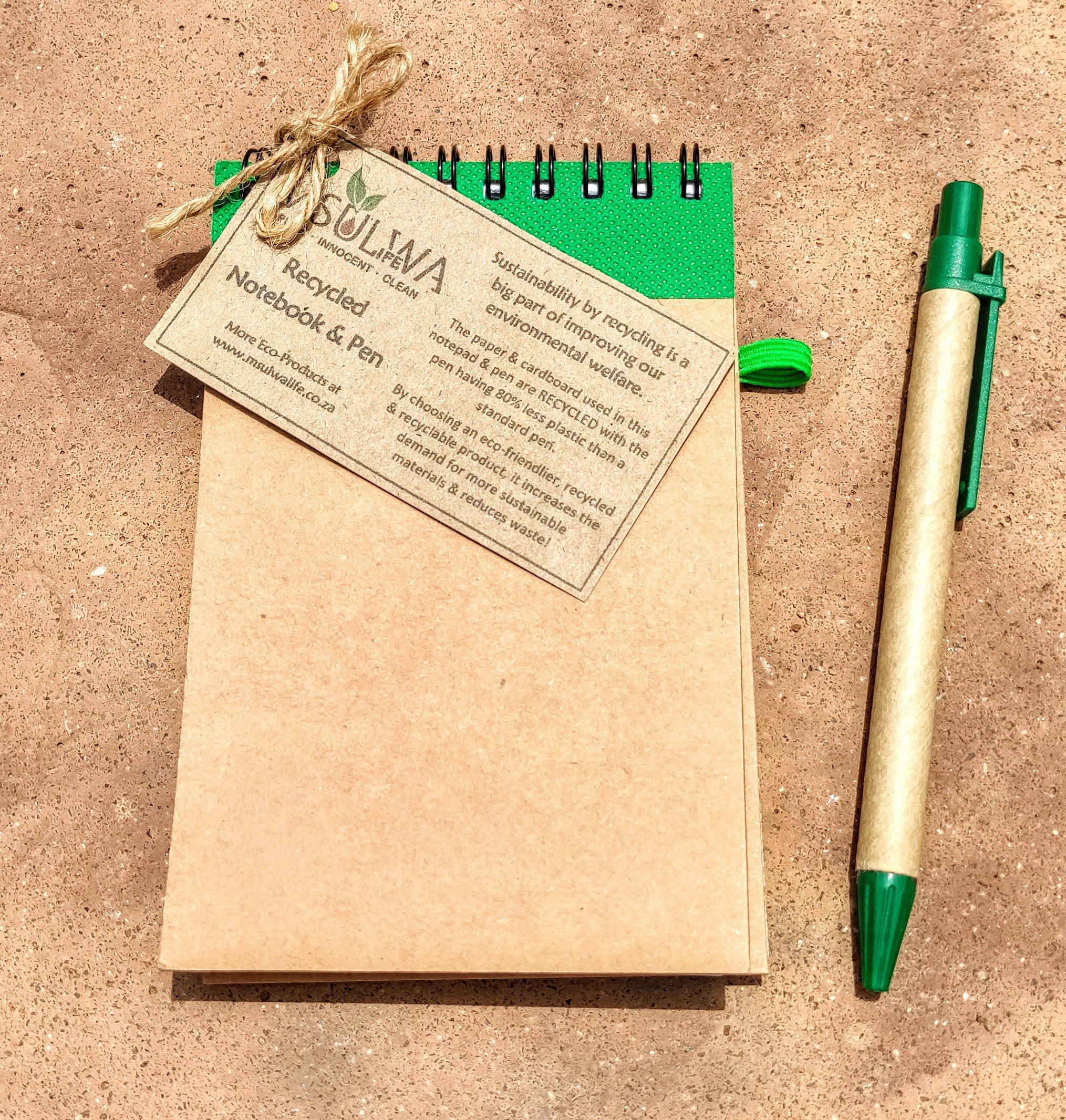 Msulwa Life Recycled Paper A5 Notebook & Pen