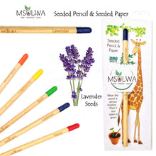 Load image into Gallery viewer, NEW! Seeded Pencil with Seed Paper - Msulwa Onine Store. Pure, Innocent, Clean. Products that are Eco-friendly, organic, sustainable, healthy, natural, vegan, biodgradable, zero waste, eco packaging. South Africa & Worldwide