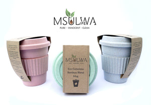 Eco-Conscious Bamboo Blend Mug - Msulwa Onine Store. Pure, Innocent, Clean. Products that are Eco-friendly, organic, sustainable, healthy, natural, vegan, biodgradable, zero waste, eco packaging. South Africa & Worldwide