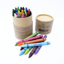 Load image into Gallery viewer, 30 Wax Eco-Crayons - Msulwa Onine Store. Pure, Innocent, Clean. Products that are Eco-friendly, organic, sustainable, healthy, natural, vegan, biodgradable, zero waste, eco packaging. South Africa & Worldwide