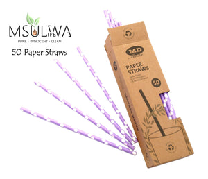 Paper Straws (50 per Box) - Msulwa Onine Store. Pure, Innocent, Clean. Products that are Eco-friendly, organic, sustainable, healthy, natural, vegan, biodgradable, zero waste, eco packaging. South Africa & Worldwide