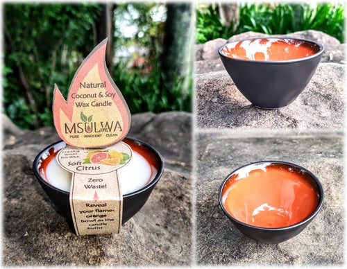 Natural Coconut & Soy Wax Candle - Small - Msulwa Life