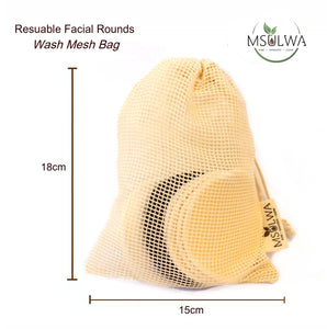 Msulwa Reusable Facial Rounds - Msulwa Onine Store. Pure, Innocent, Clean. Products that are Eco-friendly, organic, sustainable, healthy, natural, vegan, biodgradable, zero waste, eco packaging. South Africa & Worldwide