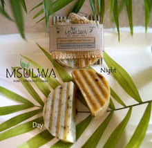 Load image into Gallery viewer, Natural Day & Night Facial Cleansing Bars - Msulwa Onine Store. Pure, Innocent, Clean. Products that are Eco-friendly, organic, sustainable, healthy, natural, vegan, biodgradable, zero waste, eco packaging. South Africa & Worldwide