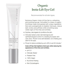 Load image into Gallery viewer, Organic Insta-Lift Eye Gel - 15ml (All skin types) - Msulwa Onine Store. Pure, Innocent, Clean. Products that are Eco-friendly, organic, sustainable, healthy, natural, vegan, biodgradable, zero waste, eco packaging. South Africa & Worldwide