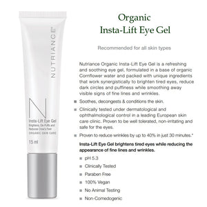 Organic Insta-Lift Eye Gel - 15ml (All skin types) - Msulwa Onine Store. Pure, Innocent, Clean. Products that are Eco-friendly, organic, sustainable, healthy, natural, vegan, biodgradable, zero waste, eco packaging. South Africa & Worldwide