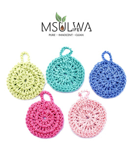 Face Scrubbies - Pack of 5 Colours - Msulwa Life
