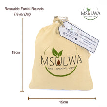 Load image into Gallery viewer, Msulwa Reusable Facial Rounds - Msulwa Onine Store. Pure, Innocent, Clean. Products that are Eco-friendly, organic, sustainable, healthy, natural, vegan, biodgradable, zero waste, eco packaging. South Africa & Worldwide