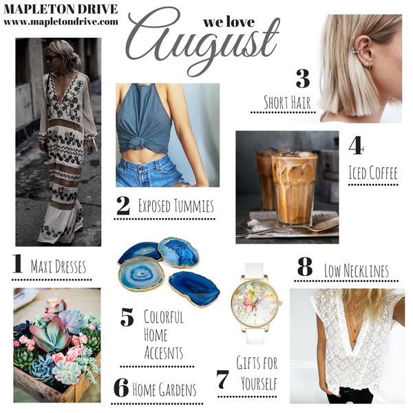 august, grid, favorites