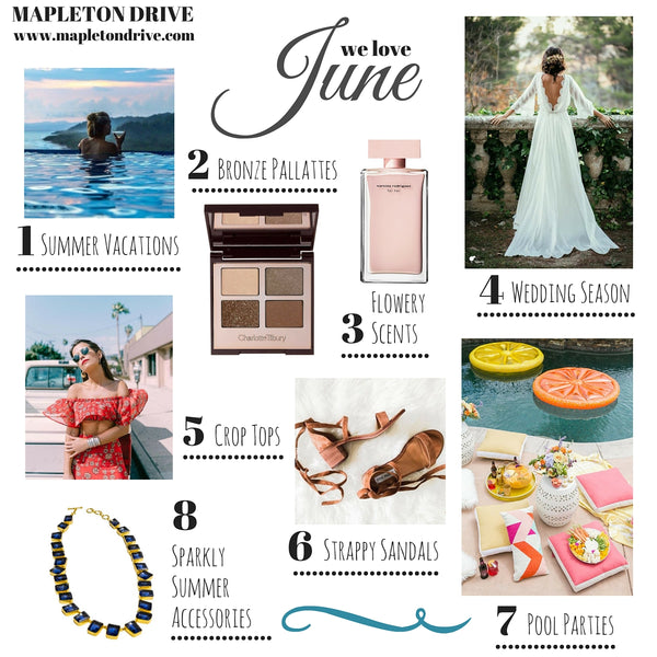june favorites, grid, mapleton drive