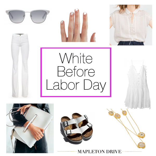 mapleton drive, outfit of the day, accessories, style, fashion, jewelry, white, labor day