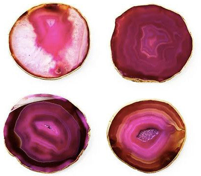 mapleton drive, refinery 29, featured, home decor, pink agate coasters