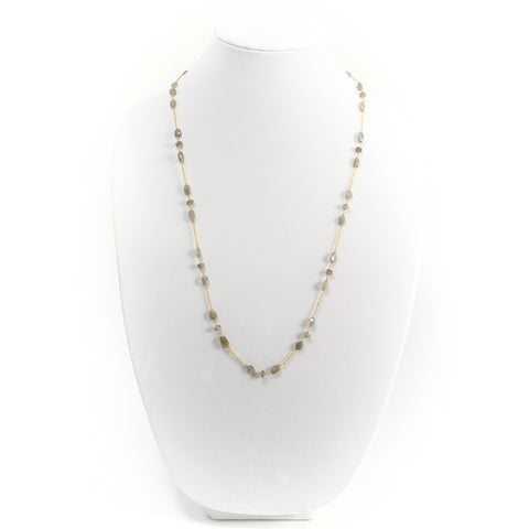 Labradorite Station Chain Necklace