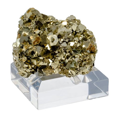 Pyrite Cluster w/ Acrylic Stand Paper Weight