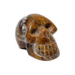 Polished Sardonyx Skull Figurine