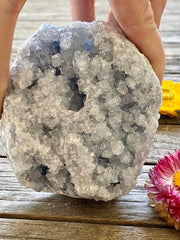 Blue celestite crystal cluster, Blue Crystal, Angel Crystal, Celestite crystal, wellness gifts, paperweights