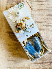 Crystal Gift Box, Geode Crystal Gift Box, Get Well Soon Crystal Gift Box, Self Care Package, Wellness Crystal Gift Box, Kyanite