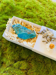 Crystal Gift Box, Crystal Box, Get Well Soon Crystal Gift Box, Self Care Package, Wellness Crystal Gift Box, Chrysoprase, turquoise