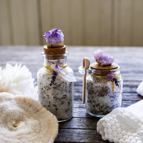 Amethyst bath salts by Mapleton Drive