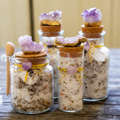 Medium Amethyst Bath Salts in Lavender