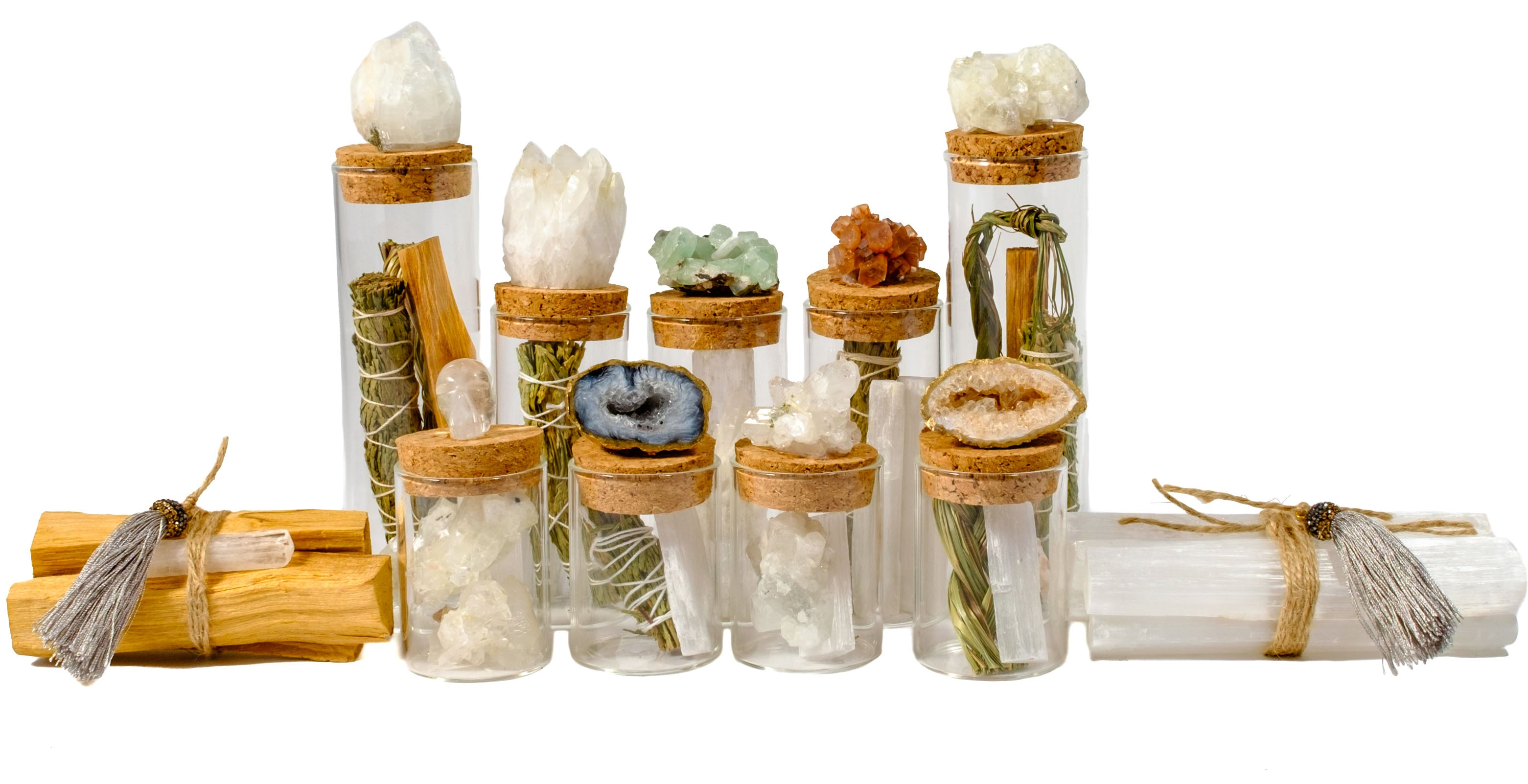 Crystal stash jars by Mapleton Drive