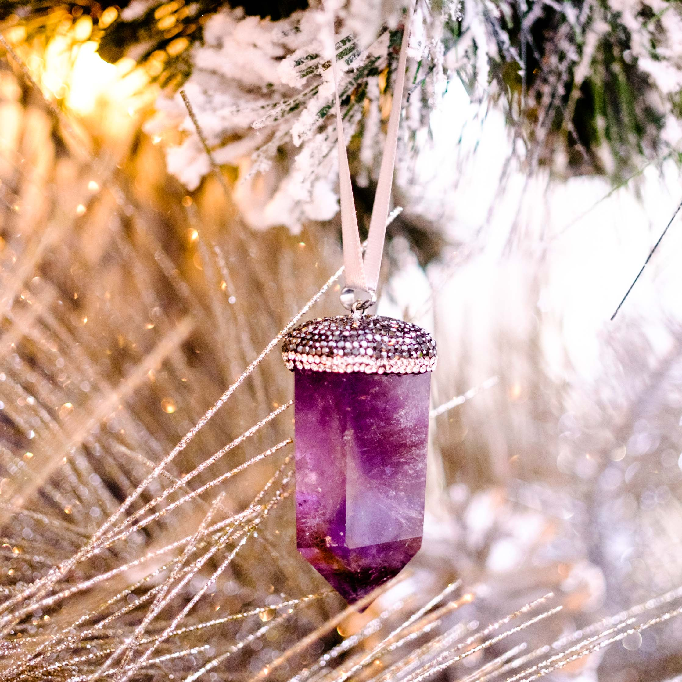 Amethyst Crystal Ornament by Mapleton Drive