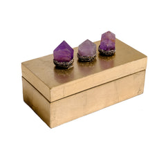 Glam gift boxes with amethyst pave point by Mapleton Drive