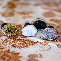 Druzy bottle stopper by Mapleton Drive