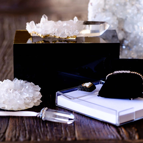 Black quartz jewelry box by Mapleton Drive