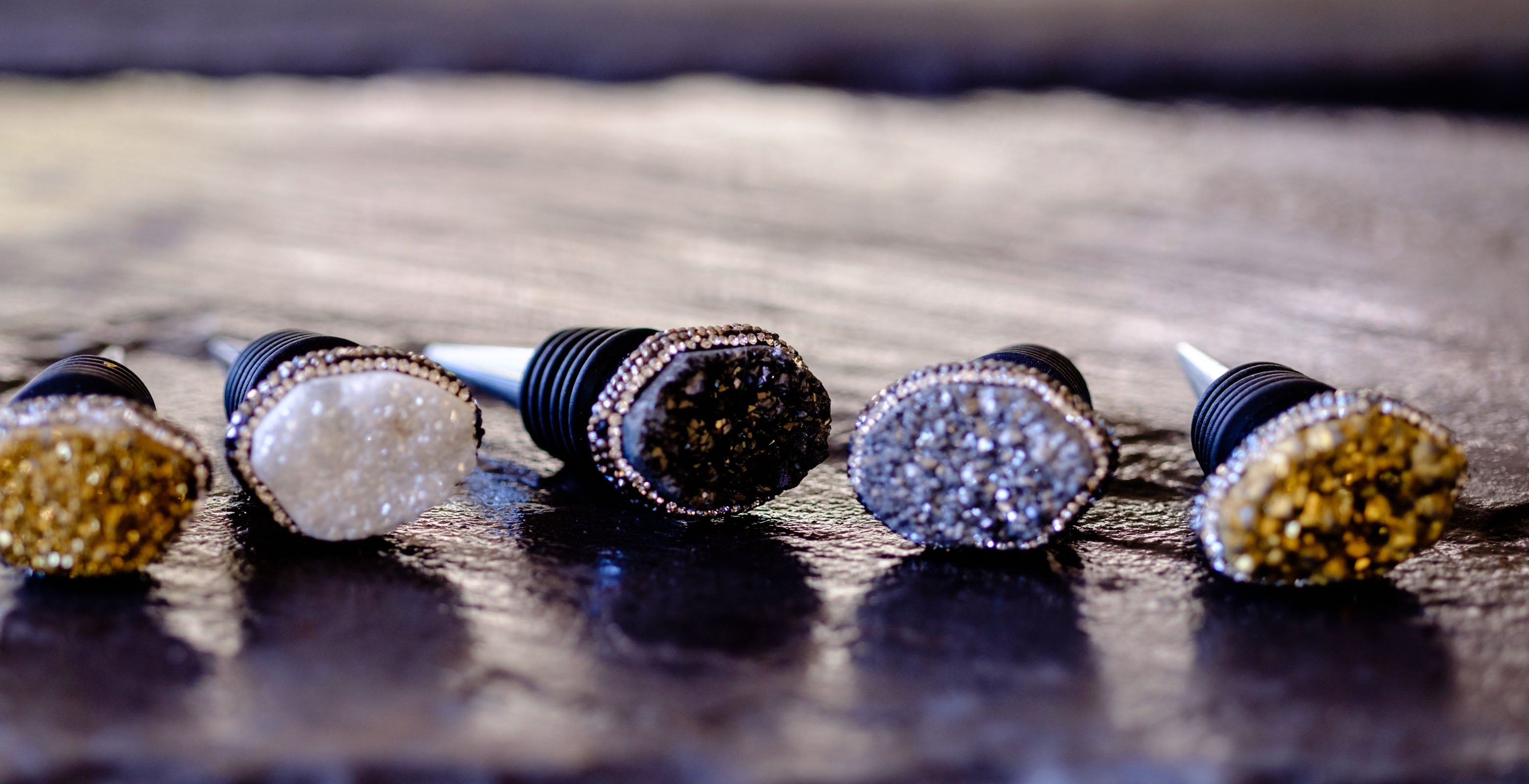 bottle stopper collection in Druzy by Mapleton Drive