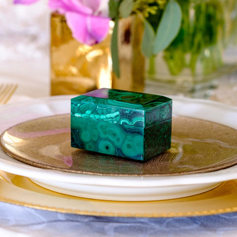 Malachite engagement box by Mapleton Drive