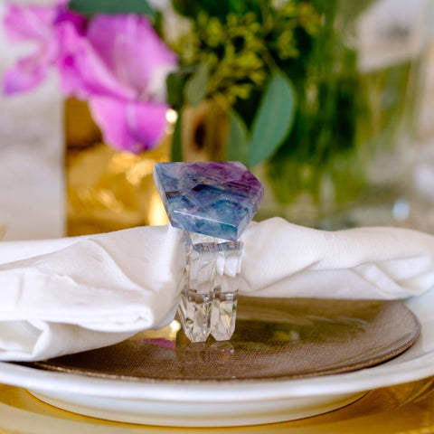 fluorite napkin rings by Mapleton Drive