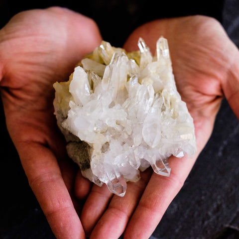 quartz cluster by Mapleton Drive